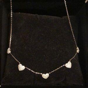 Michael Kors silver diamond necklace